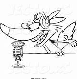 Radio Microphone Coloring Cartoon Talking Wolf Vector Colorings Getcolorings Printable Getdrawings sketch template