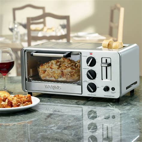 waring pro stainless steel toaster oven  built   slice toaster cutlery