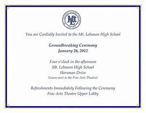 lebo citizens january 2012 With groundbreaking ceremony invitation templates