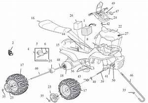 Power Wheels Barbie Trail Rider Parts