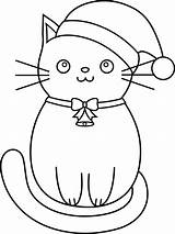 Cat Line Clip Coloring Kitty sketch template