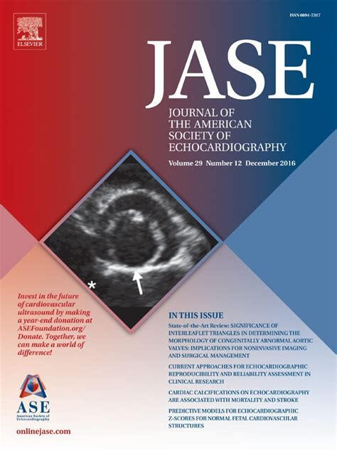 journal   american society  echocardiography