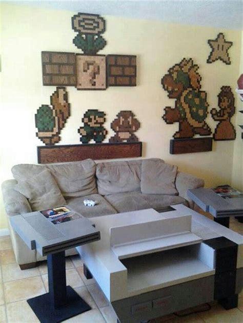amazing nintendo nes themed living room video game