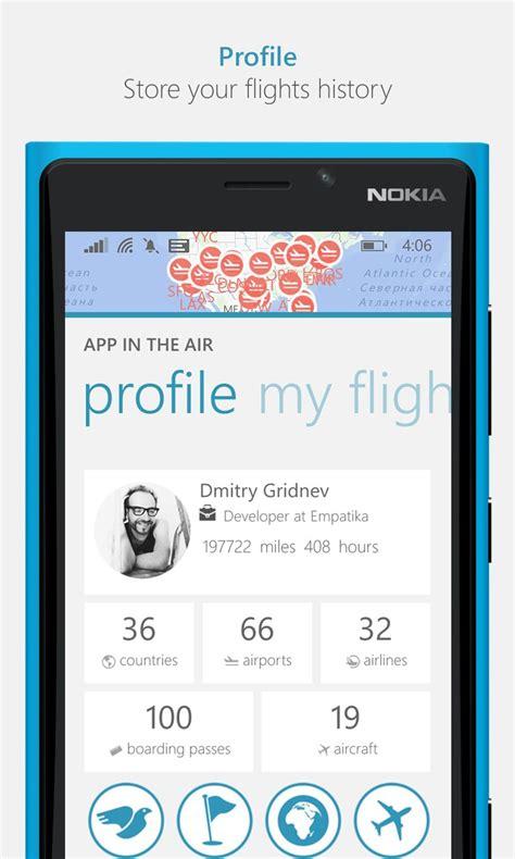app in the air free windows phone app market