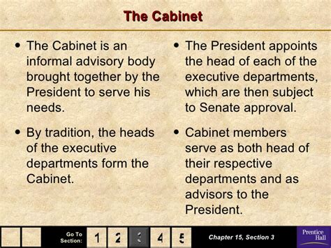 what are the 15 cabinet departments government chapter 15 powerpoint