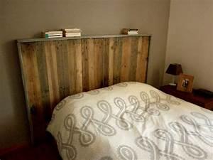 Faire Une Tête De Lit En Bois : photo tete de lit a faire soi meme ~ Teatrodelosmanantiales.com Idées de Décoration