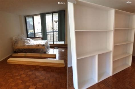 Bookcase Divider Wall by Freestanding Bookcase Divider Wall In Nyc 1daywall