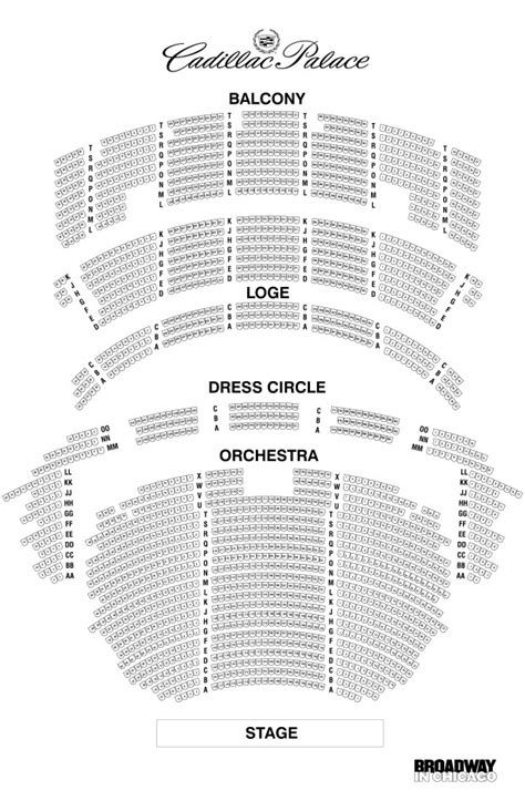 cadillac palace theatre master theater seating charts seating chart palace theater brokeasshome