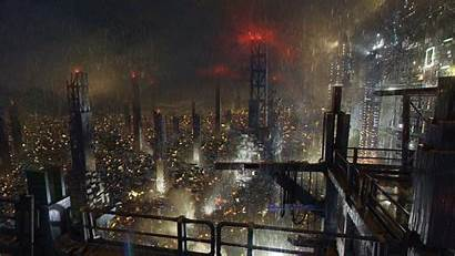 Cyberpunk Wallpapers Rain Deus Ex