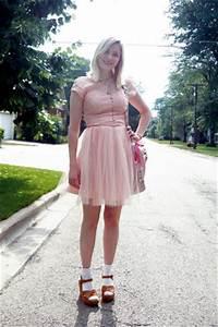 Pink Vintage Dresses, Beige Kork Ease Shoes, White Target ...