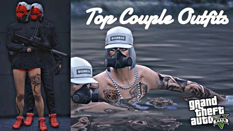 TOP FIVE COUPLE OUTFITS (GTA V ONLINE) u10e6 - YouTube