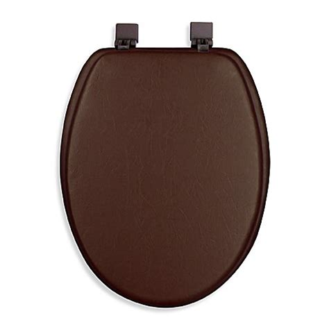 cushioned elongated toilet seat ginsey cushioned elongated toilet seat bed bath beyond 6335