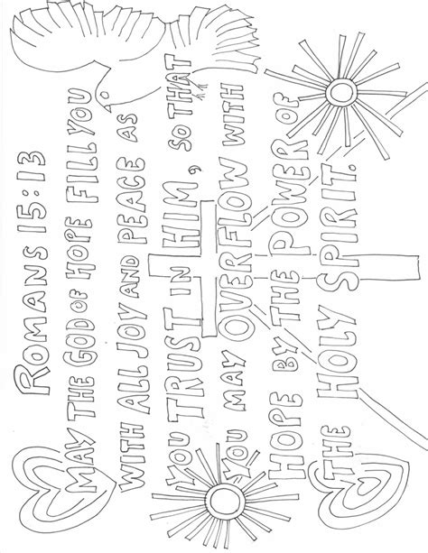 word  god speak romans  colouring page growing  gods word