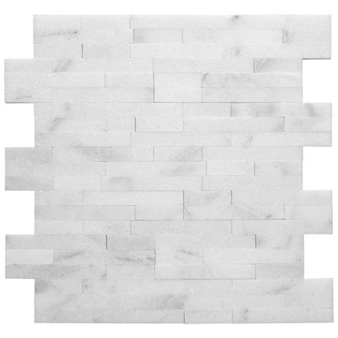 tile home depot jeffrey court venetian brick 12 in x 12 in x 10 mm stone mosaic wall tile 99581 the home depot