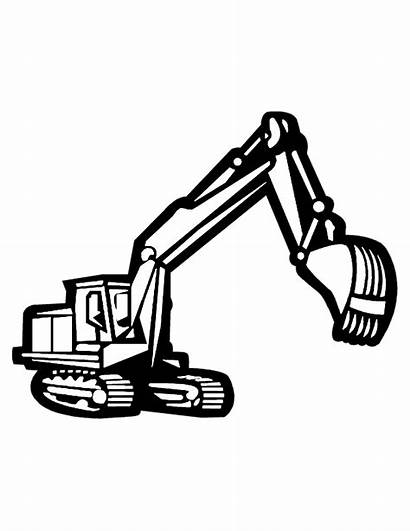 Construction Equipment Coloring Pages Clipart Clip Heavy