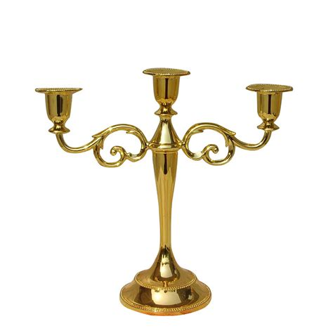 three candle holder aliexpress buy gold plated 3 branch