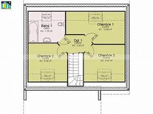 plan maison 80m2 3 chambres etage With plan maison 80m2 2 chambres
