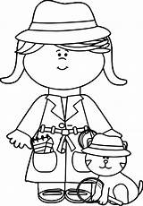 Coloring Detective Pages Little Cat Spy Boy Crafts Theme Clip Bible Nice Wecoloringpage Boys sketch template