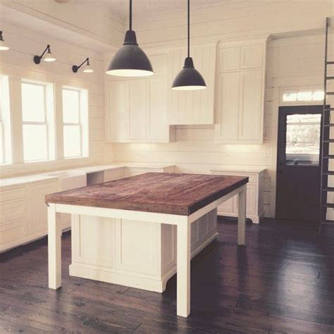 table island kitchen i the white with the island flooring and door