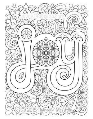 christmas joy coloring page  thaneeya mcardle