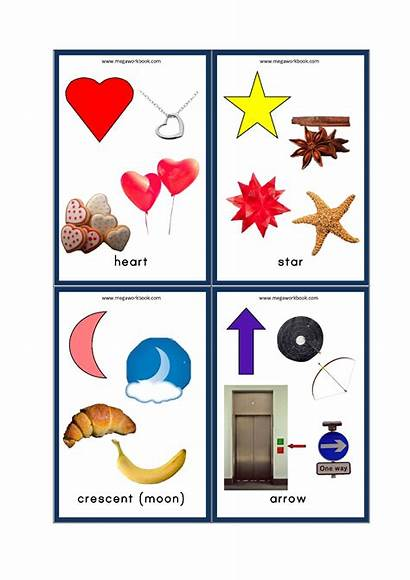 Shapes Flashcards Objects Examples Flash Cards Megaworkbook