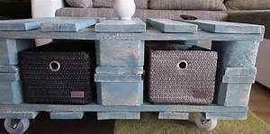Fabrication Avec Palette : fabrication d 39 une table basse avec des palettes en bois frenchimmo ~ Preciouscoupons.com Idées de Décoration