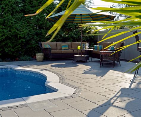 unilock new york a poolside oasis in island ny features unilock s
