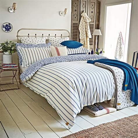 bedding nautical themed bedding joules sea ditsy blue striped Sea