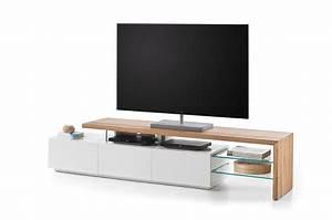 Meuble Bois Et Blanc : meuble tv design bois et blanc novomeuble ~ Teatrodelosmanantiales.com Idées de Décoration