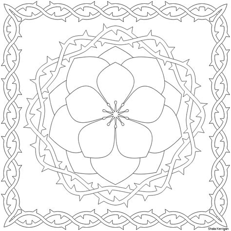 simple flower patterns  trace coloring home