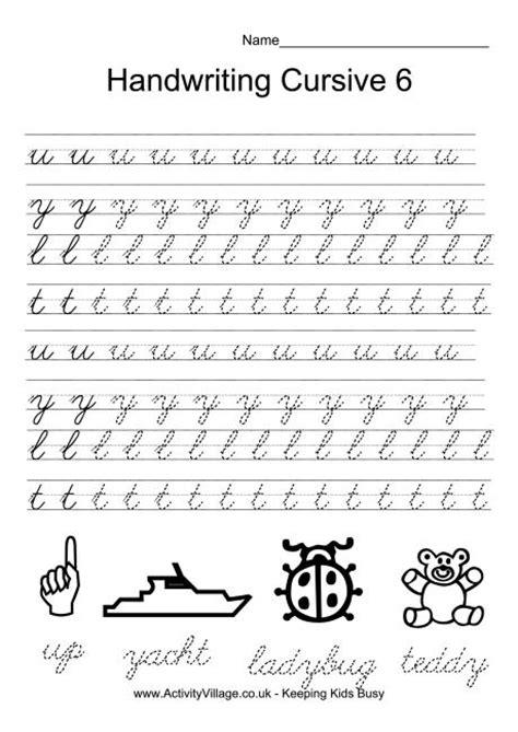 Handwriting Practice Cursive 6