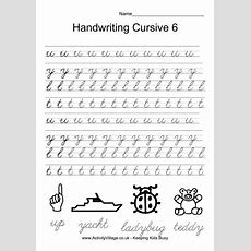 Handwriting Practice Cursive 6