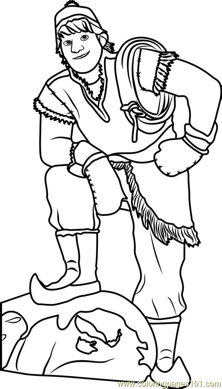 kristoff coloring page  frozen coloring pages coloringpagescom