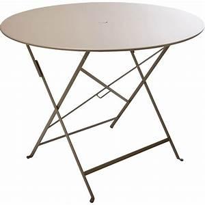Table Pliante Leroy Merlin : table de jardin fermob bistro ronde muscade 4 personnes ~ Dode.kayakingforconservation.com Idées de Décoration