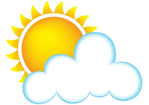 Best Sun And Clouds Clipart #19964
