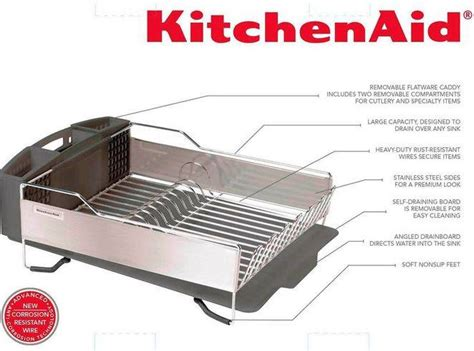 kitchenaid dish rack kitchenaid dish drying rack 3 or black stainless