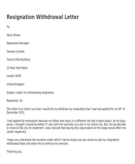 resignation letters samples templates
