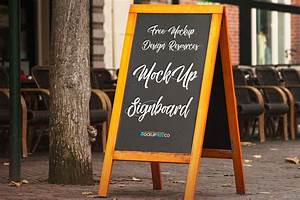 Free, Signboard, Psd, Mockup, For, Your, Business