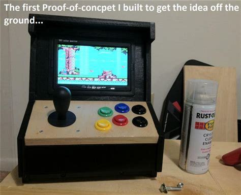 build arcade cabinet with pc build your own mini arcade cabinet with raspberry