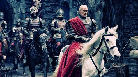 man riding  horse artwork tywin lannister charles