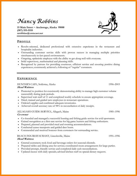 Resume Template Hospitality by Career Objective For Hospitality Industry 28 Images