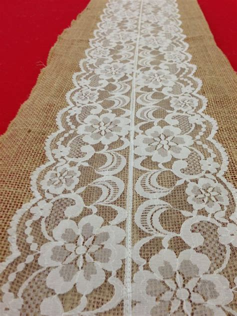 burlap table runner with lace vintage antique lace lace table runner natural burlap