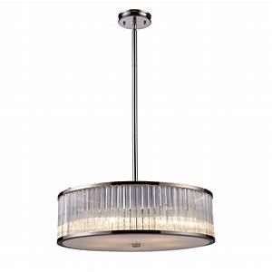 Elk lighting braxton contemporary drum pendant