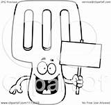 Spatula Coloring Happy Cartoon Clipart Mascot Holding Sign Background Outlined Vector Clip Keywordsuggest Credit Larger sketch template