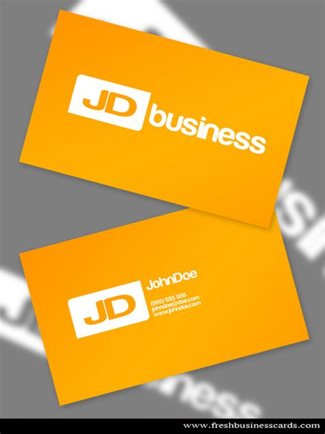 yellow business card unique business cards
