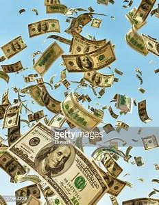 Money Falling From The Sky Stock Photo | Getty Images