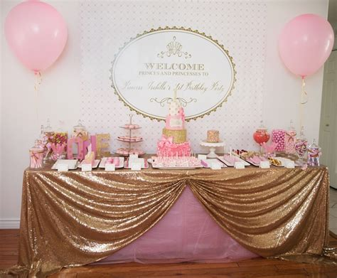 Pink And Gold 1st Birthday Decorations by Gorgeous Pink Gold 1st Birthday Susy Martinez