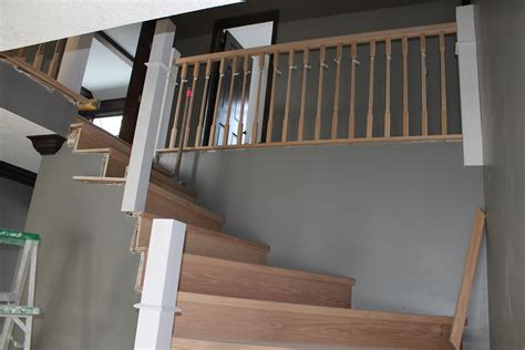 banister handrails remodelaholic curved staircase remodel with new handrail