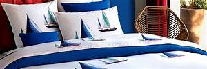 Housse De Couette Theme Mer : linge de lit style marin la boutique nova linge ~ Teatrodelosmanantiales.com Idées de Décoration