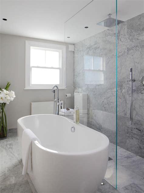 marble bathub open shower ideas modern bathroom hammett